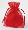 3x4 Red Organza Bags