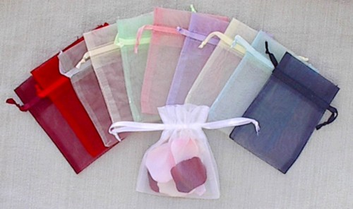 Wholesale Organza Drawstring Gift Bags, Wedding Favor Bags